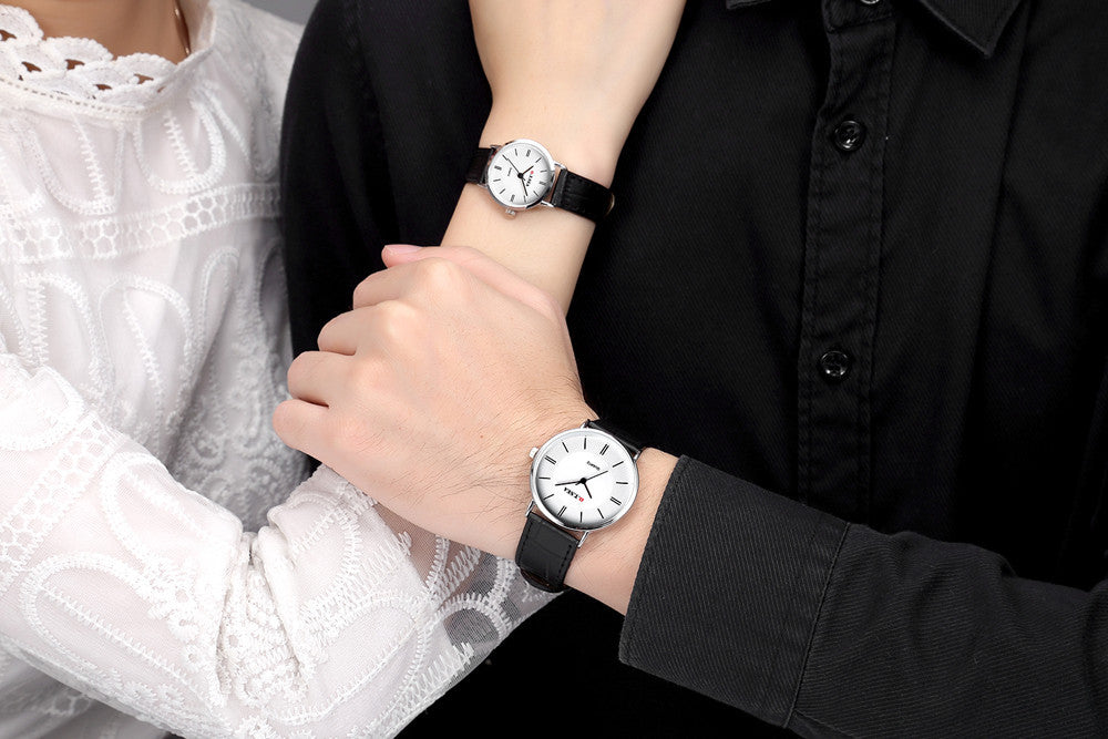 2PC Luxury Men's & Lady Watches