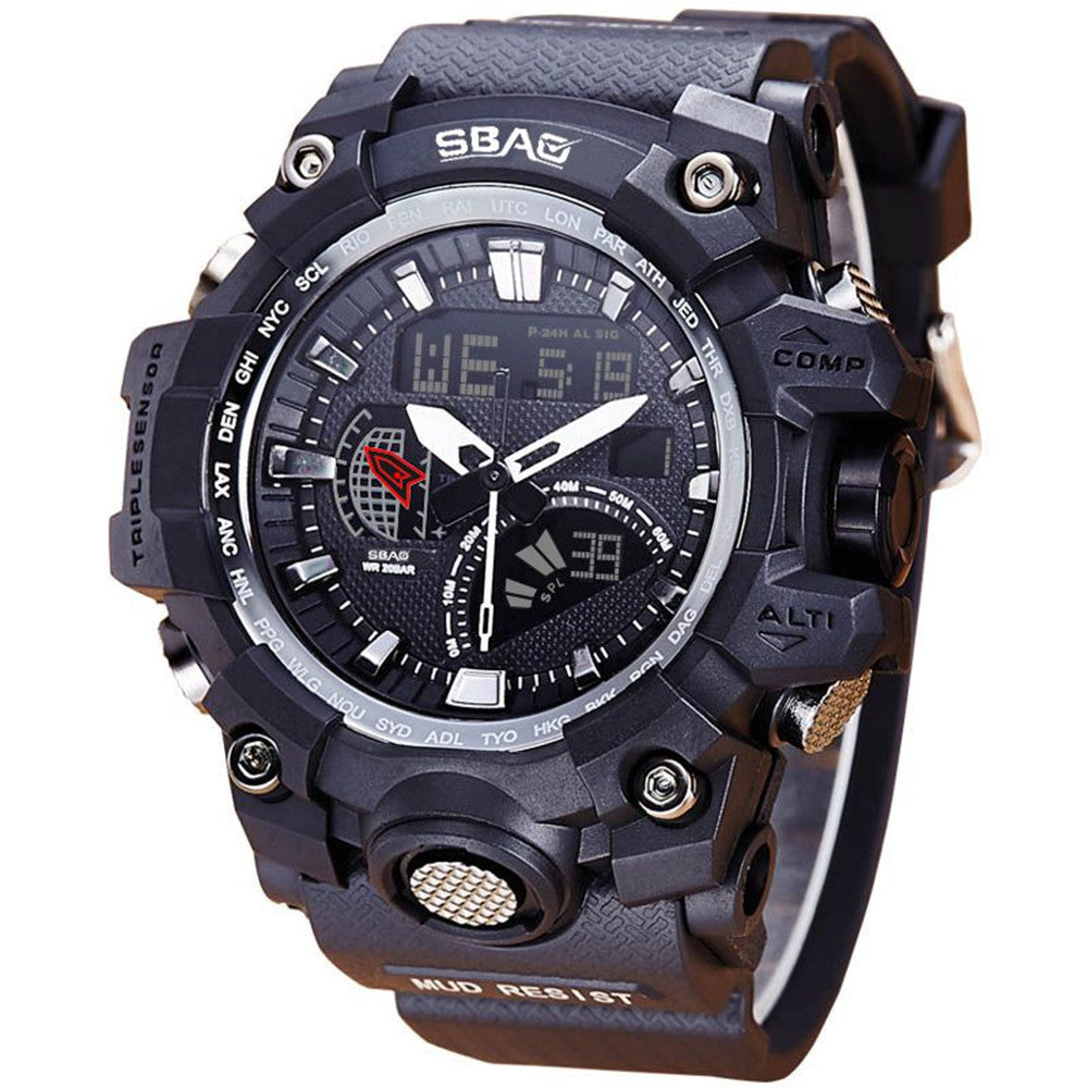 LED Men's Waterproof Sports Watch