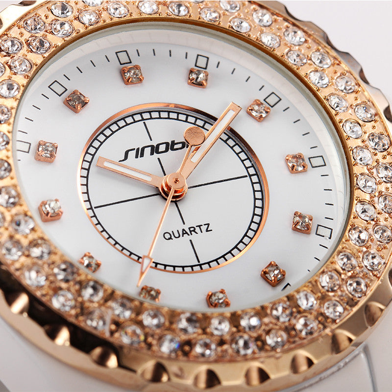 Brand Quartz Diamond Ladies Watch