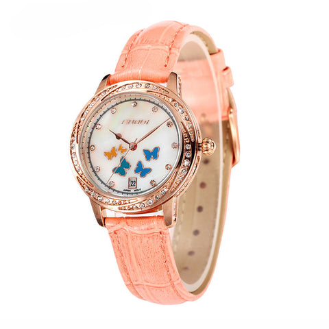 Luxury Diamond Butterfly Ladies Watch