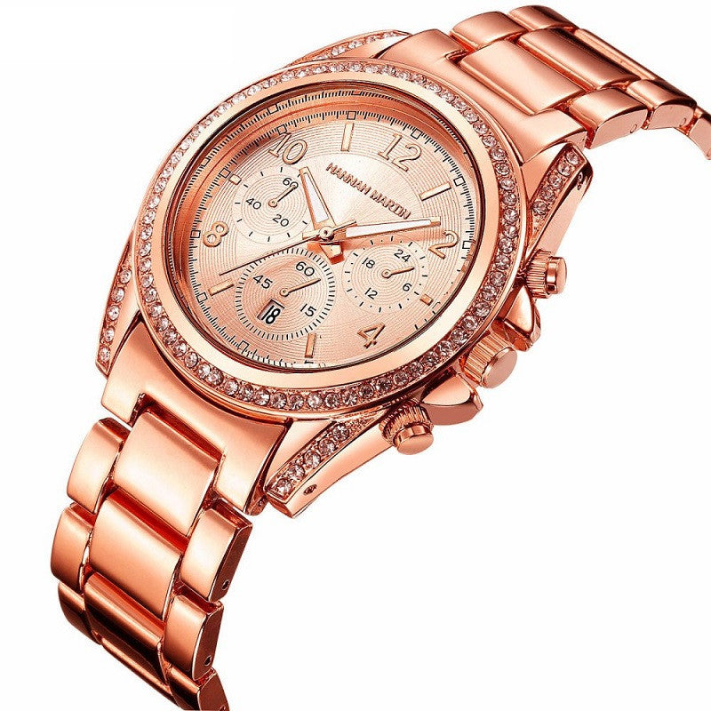 Women's Rose Gold Diamond Watch