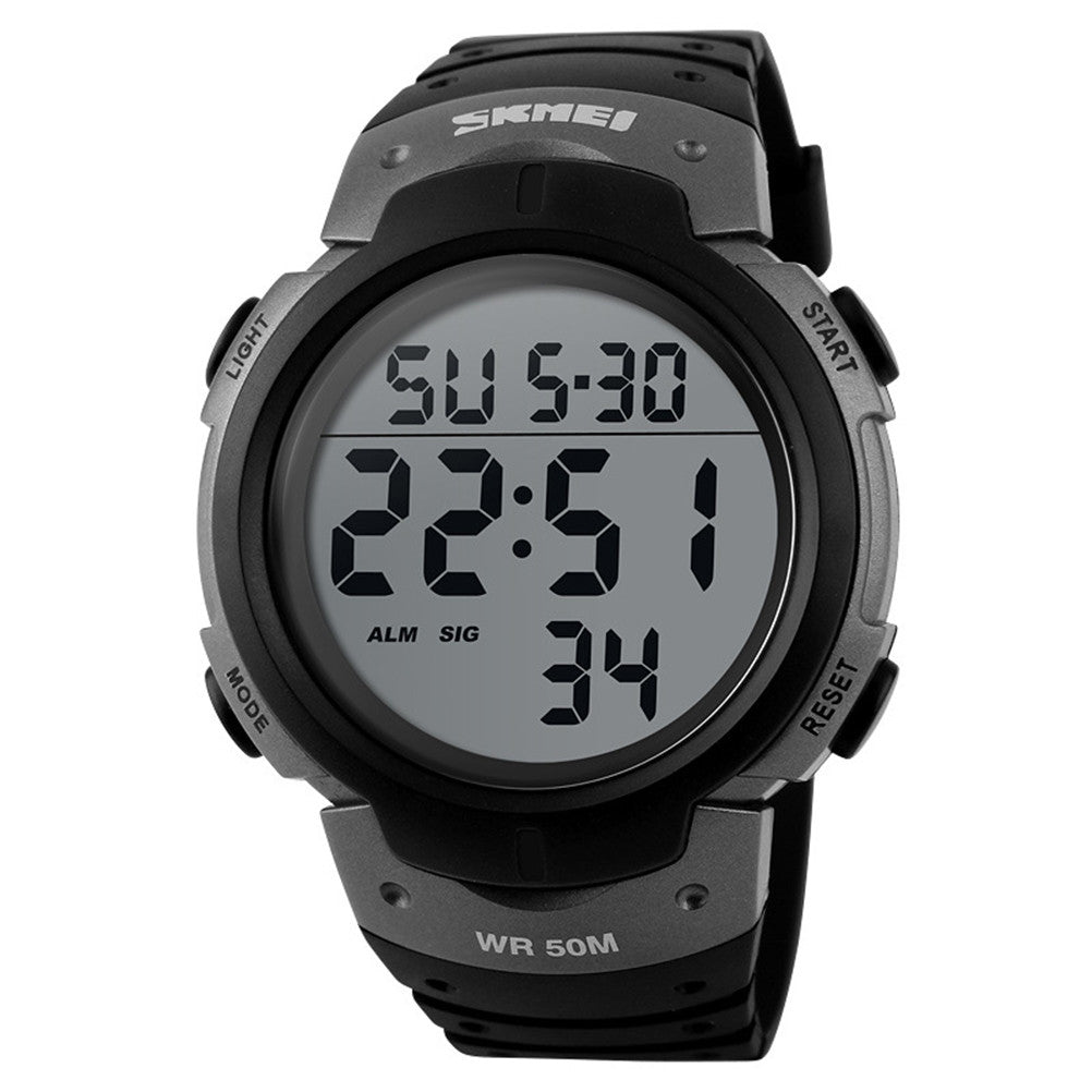 Electronic Sports Waterproof Watch