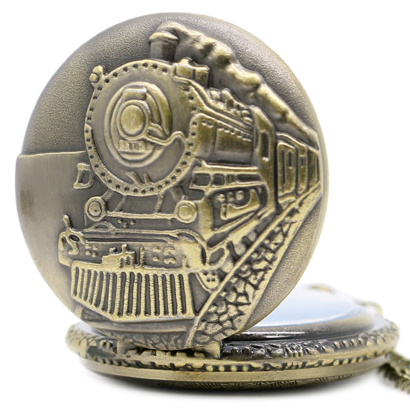 Retro Locomotive Pocket Watch