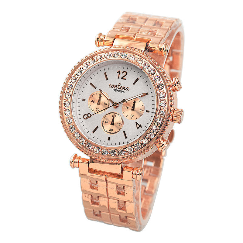 Luxury Ladies Rhinestone Watch