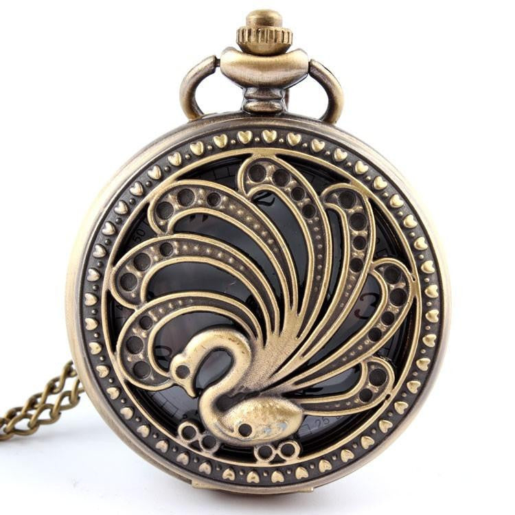 Creative Retro Peacock Pocket Watch