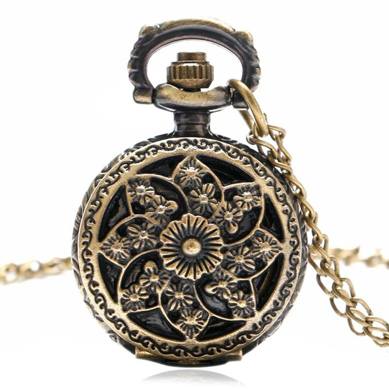 Eight Leaf Flowers Pocket Watch