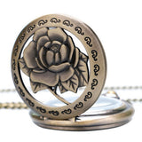 Fashion Rose Pocket Watch