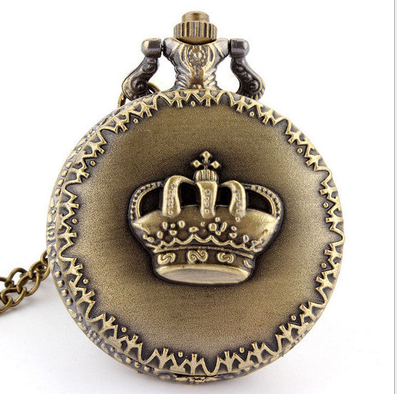 Retro Crown Pocket Watch