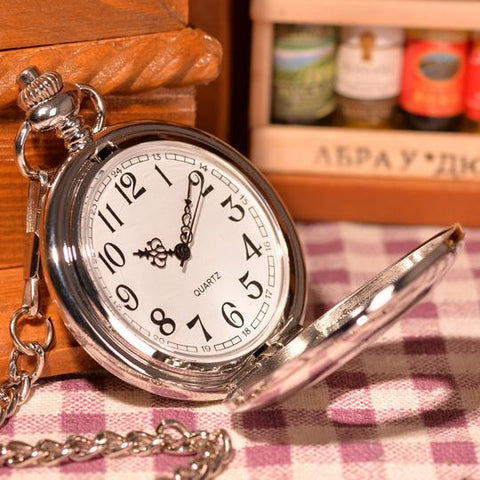 Elegant Silver Pocket Watch