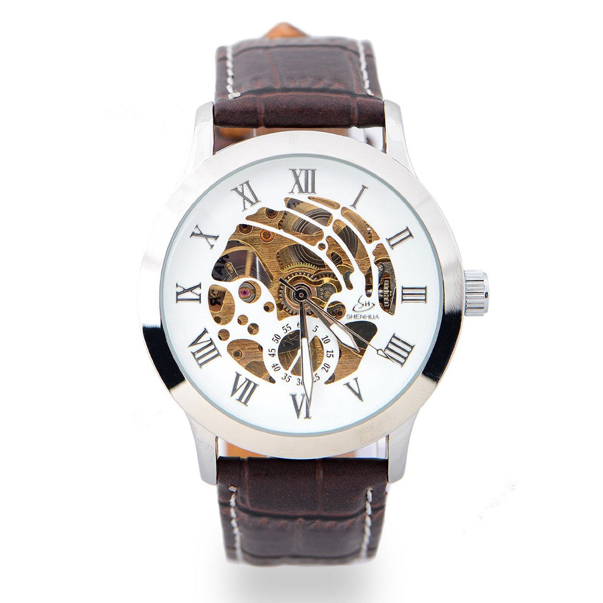 Men's Hollow-out Mechanical Watch