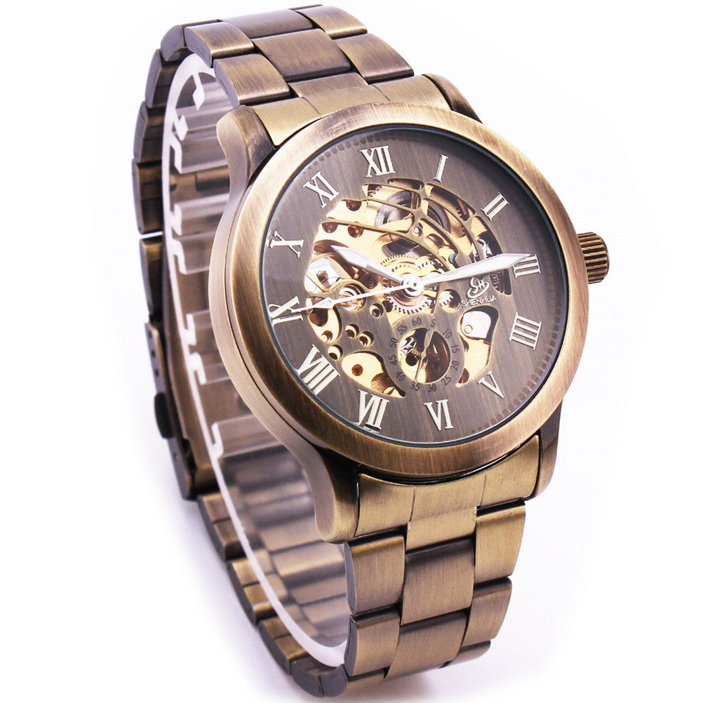 Men's Bronze Hollow-out Wrist Watch