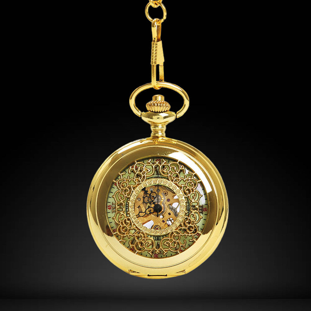 Golden Roman Retro Pocket Watch
