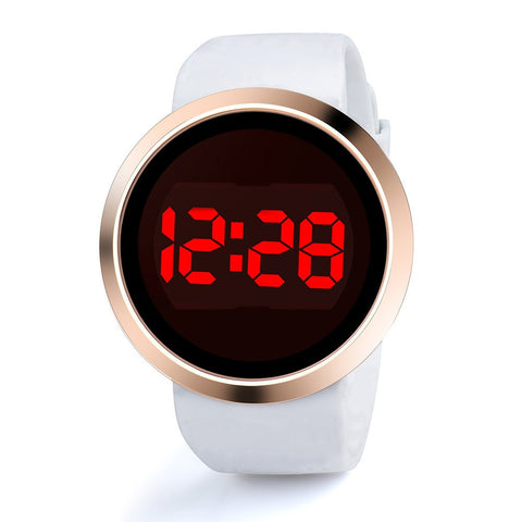 LED Touch Alloy Men's Watch
