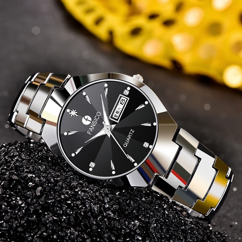 Tungsten Men & Women Pair Watches