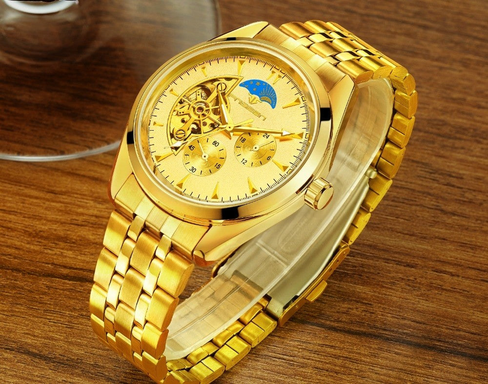 Luxury Gold Men's Watch
