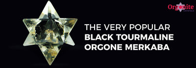 The very popular Black Tourmaline orgone merkaba