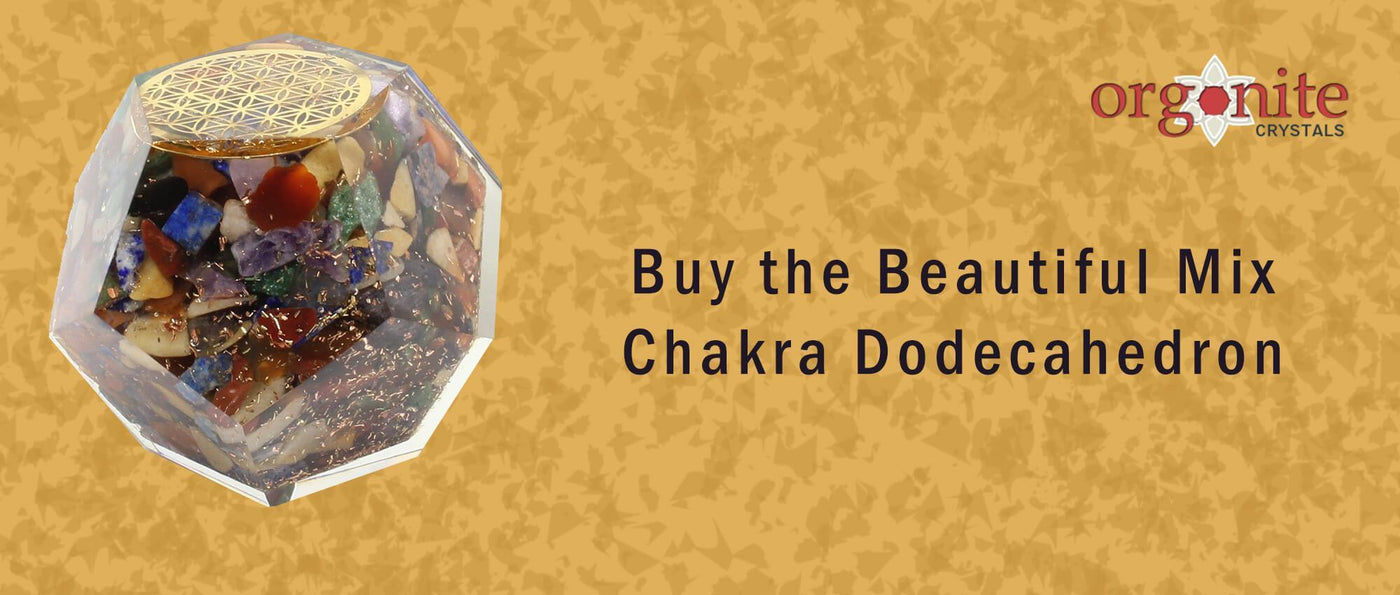 Buy the Beautiful Mix Chakra Dodecahedron