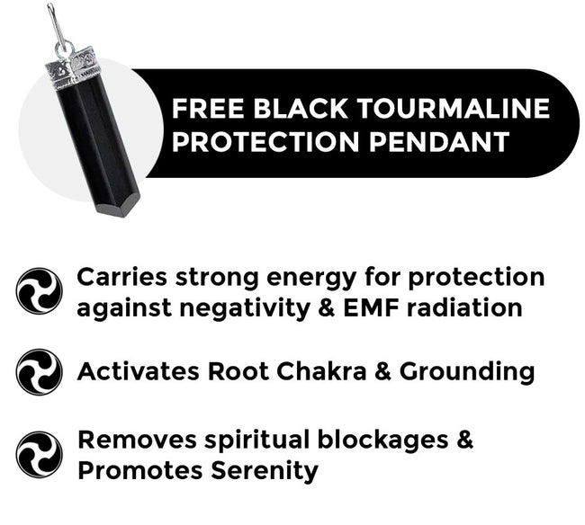 Get Free Black Tourmaline Protection Pendant