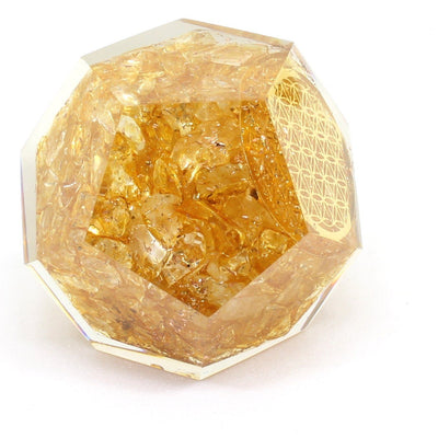 Orgone Citrine Energy Generator Dodecahedron