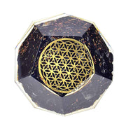 Black Tourmaline Emf Protection Orgone Dodecahedron - Orgonite Crystal