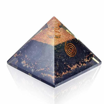 Black Tourmaline Energy Generator Orgone Pyramid - Orgonite Crystal