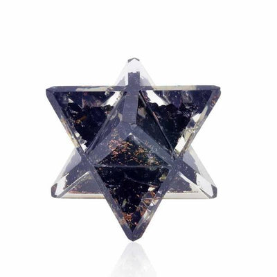 Black Tourmaline Orgone Merkaba - Orgonite Crystal