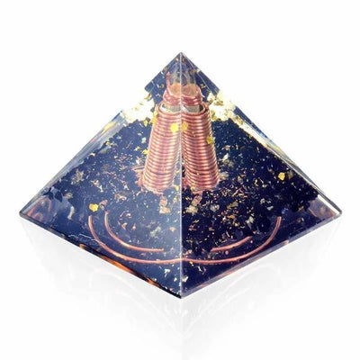 Emf Protection Black Tourmaline Orgone Pyramid - Orgonite Crystal