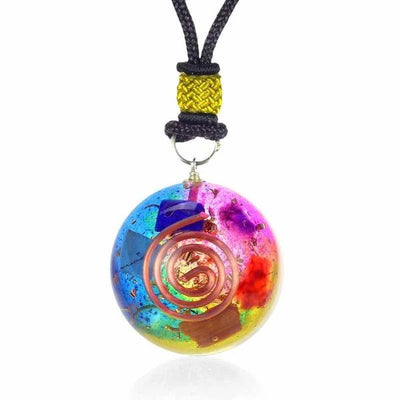 Emf Protection Chakra Orgone Pendant - Orgonite Crystal