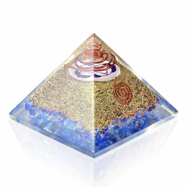 Lapis Lazuli Ultimate Psychic Abilities Orgone Pyramid - Orgonite Crystal