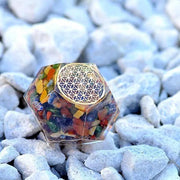 Ultimate Protection Orgone Chakra Healing Dodecahedron - Orgonite Crystal