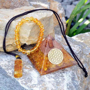 Orgone Citrine Healing Crystals Bundle ( Exclusive) - Orgonite Crystal