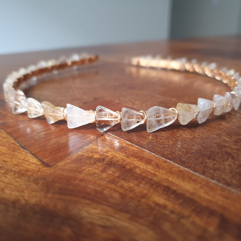 Rutile Quartz Triangles Headband