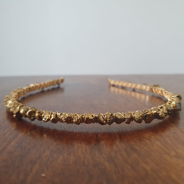 Golden Titanium Agate Headband