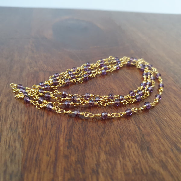 Faceted Amethyst Necklace