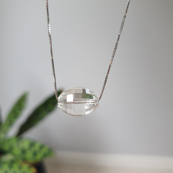 Sterling Silver Clear Quartz Necklace