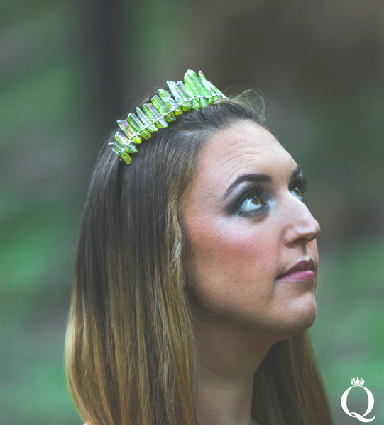 Green Aura Quartz Duchess Crown