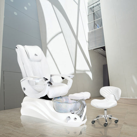 Crane White Edition Pedicure Chair