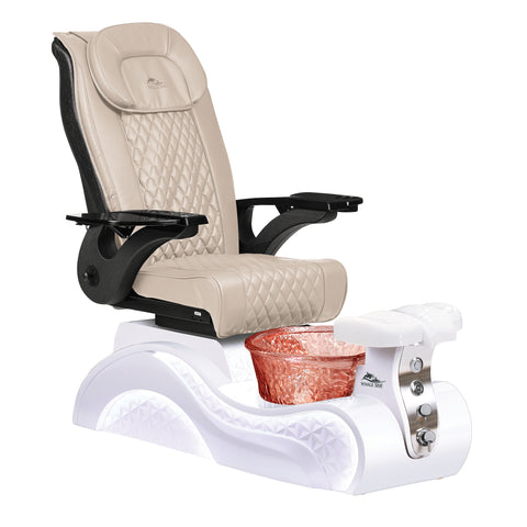Lucent Pedicure Chair - White Base