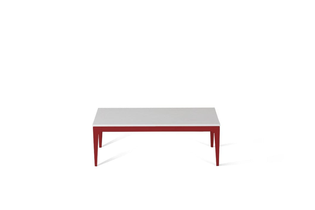 Pure White Coffee Table Flame Red