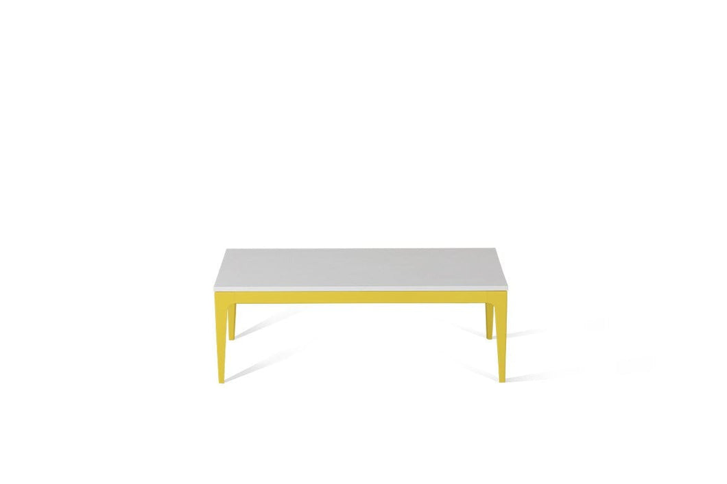 Pure White Coffee Table Lemon Yellow