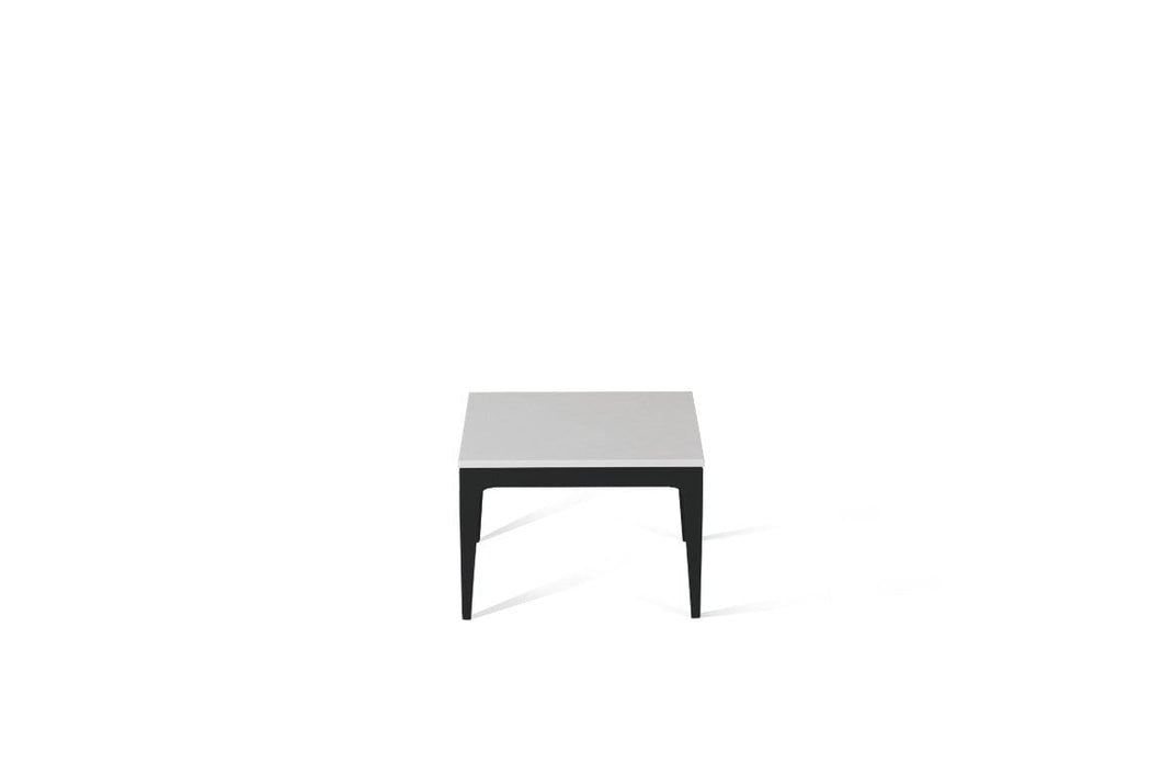 Pure White Cube Side Table Matte Black