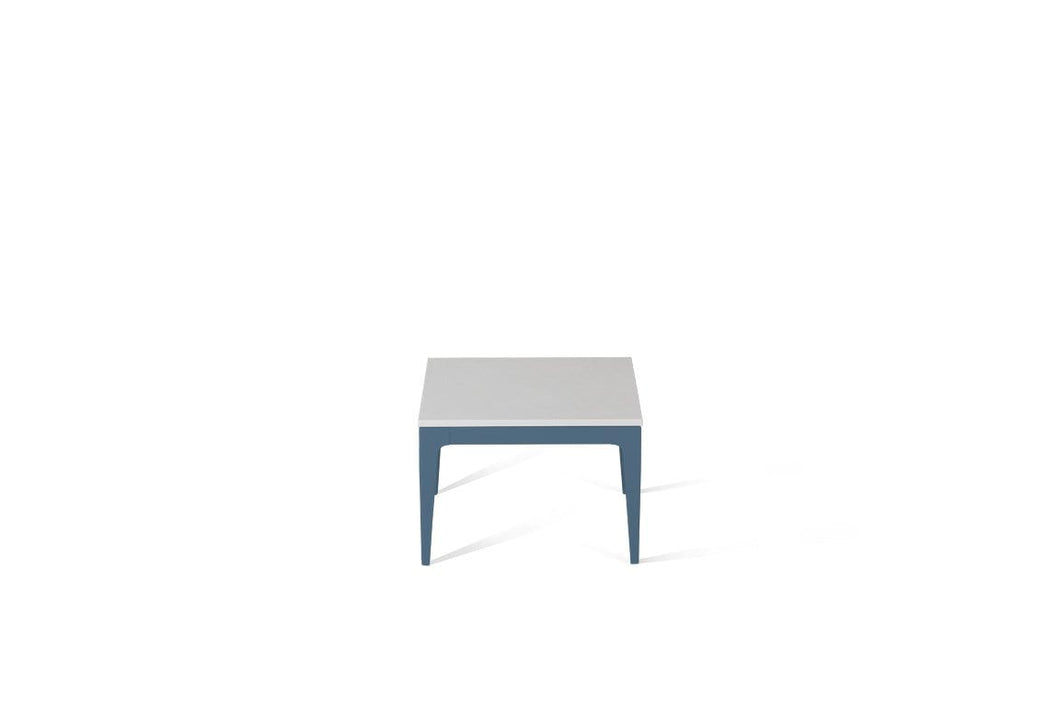 Pure White Cube Side Table Wedgewood