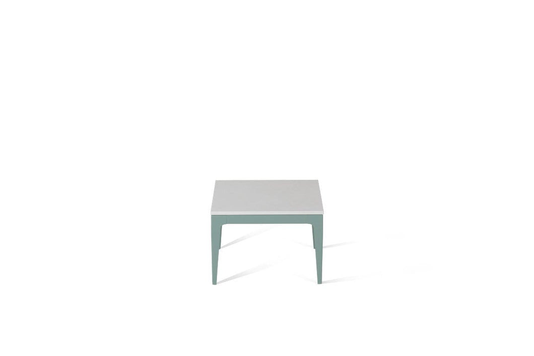 Pure White Cube Side Table Admiralty