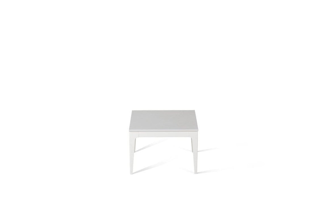 Pure White Cube Side Table Oyster