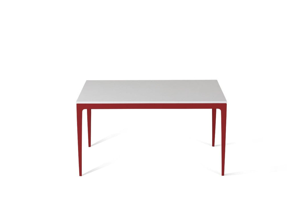 Pure White Standard Dining Table Flame Red