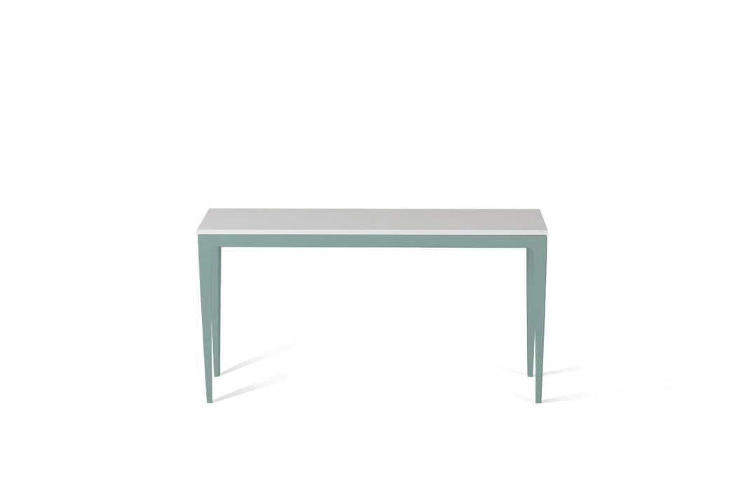 Pure White Slim Console Table Oyster