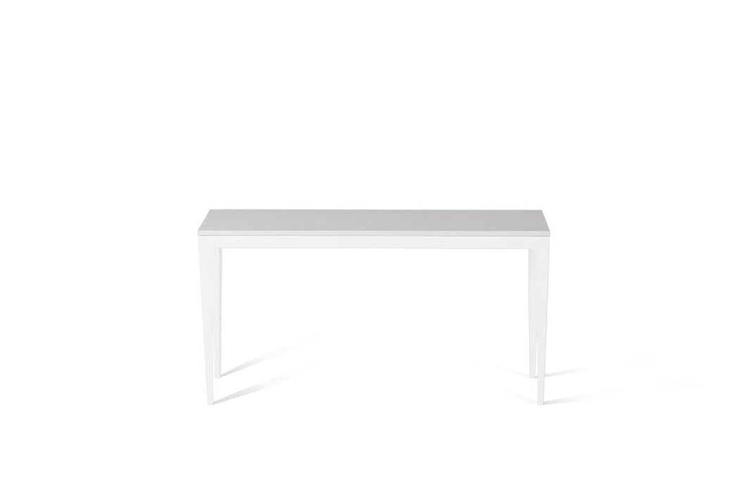 Pure White Slim Console Table Pearl White