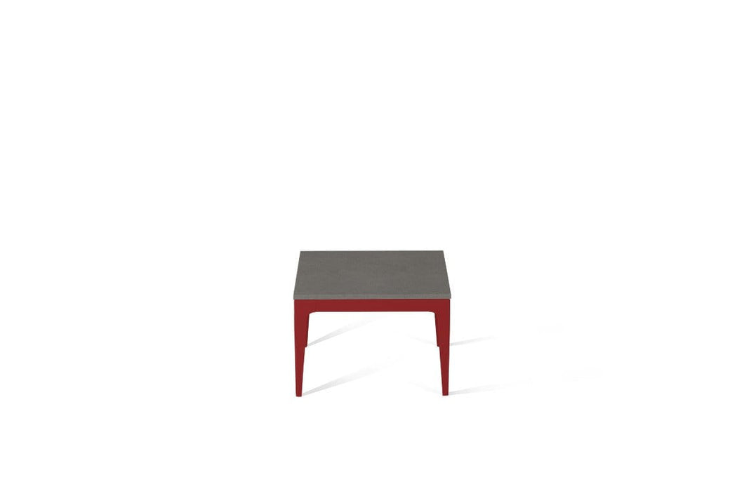 Urban Cube Side Table Flame Red