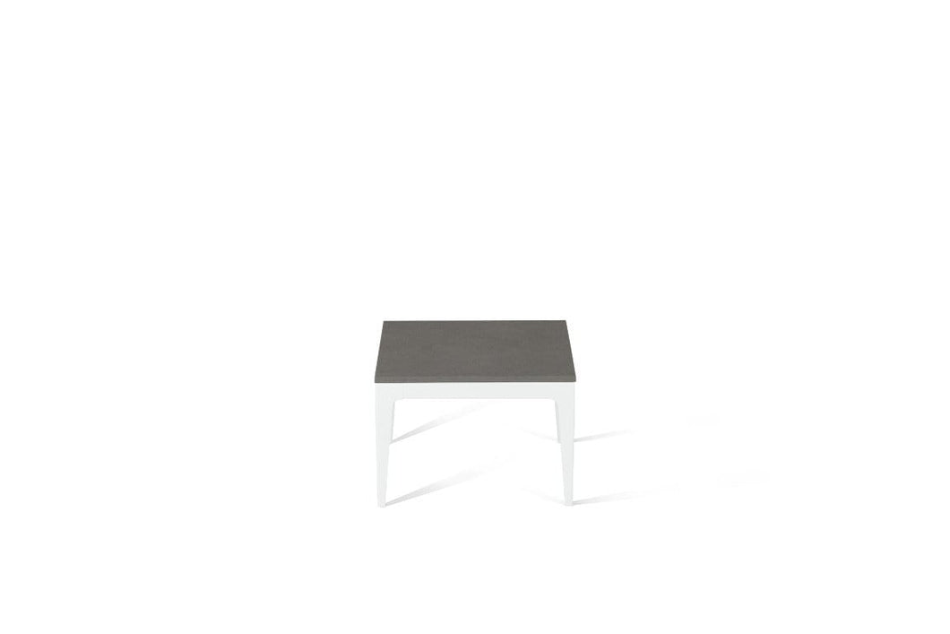 Urban Cube Side Table Pearl White