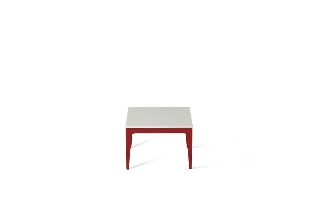 Snow Cube Side Table Flame Red